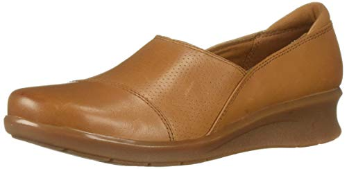 CLARKS Women's Hope Porter Loafer, tan Leather, 055 M US