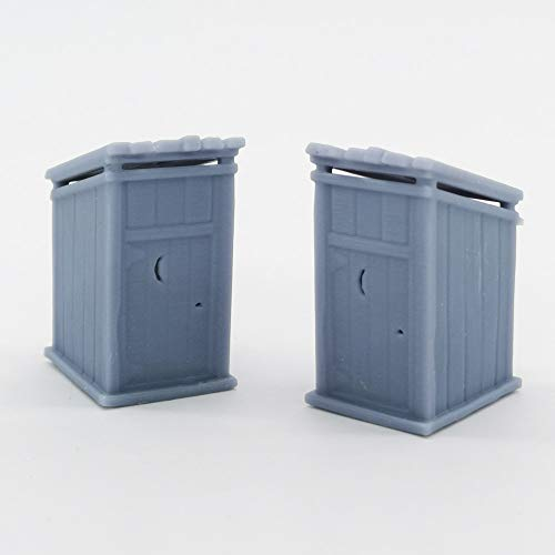 Outland Models Railway Scenery Old West Accessory Outhouse 2 pcs 1:87 HO Scale