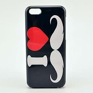 HC- Modelo del amor del bigote de plástico Carcasa trasera para iPhone 5C