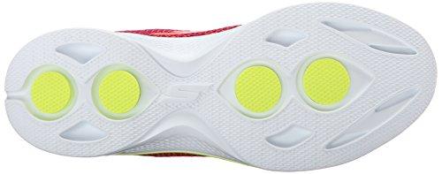 Skechers Performance Damen Go Walk 4 Exceed Schnür Sneaker Rosa / Limette