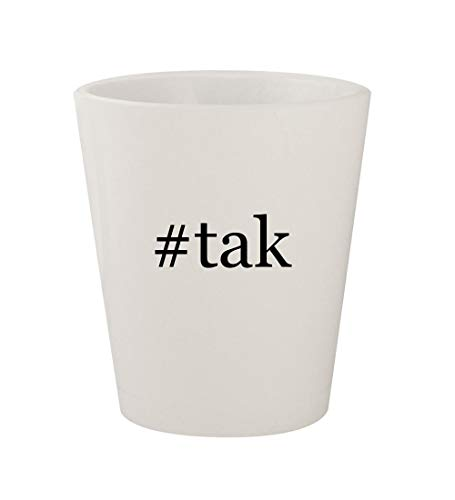 #tak - Ceramic White Hashtag 1.5oz Shot Glass