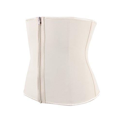 Belt Cincher Workout Hot Corsetto Con Cerniera Vita Zipper Shaper Body Neoprene White Trimmer Sweetlover Sweat Trainer In wPYIYq