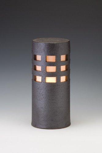 信楽焼ガーデンライト千のあかり(ブラック)直径12.5cm×高さ29cm(屋外用防雨型和風ライト) 日本製 B00476P48G 19440