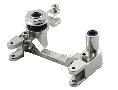 Dhawk Racing Aluminum Steering Bellcrank w/Bearing Silver for Traxxas Unlimited Desert ()