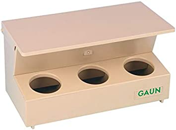 Gaun 10-30205 Comedero Palomos, Tolva 3 Hue, 2 kg, 26 x 13.5 x 12.5 cm