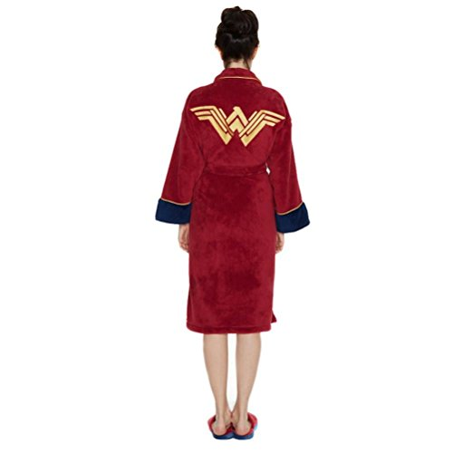 Officiel Batman v Superman Wonder Woman Fleece robe de chambre Peignoir - adulte