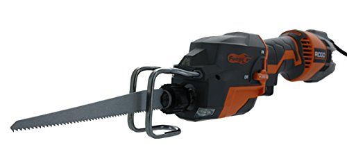 Corded Electric Reciprocating Saw (Ridgid R3031 Fuego Corded 3,500 SPM 6 Amp Compact One-Handed Reciprocating Saw (Bare Tool Only))