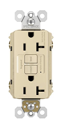 Legrand - Pass & Seymour radiant 2097TRICC4 20 Amp Tamper-Resistant Self-Test GFCI Safety Outlet, Ivory, Matching Wall Plate Included