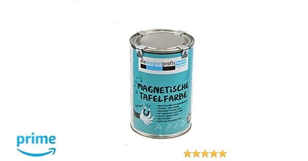 Magnético Color/pizarra Color mate, magnético, Extreme Resistencia, allergikerfreundliche – Pintura para interior, sin conservantes Negro, 1 L