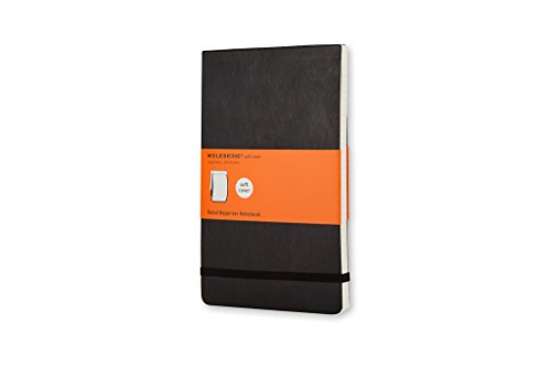 Moleskine Reporter Notebook, Pocket, Ruled, Black, Soft Cover (3.5 x 5.5) (Reporter Notebooks) - Flip Top Notepad