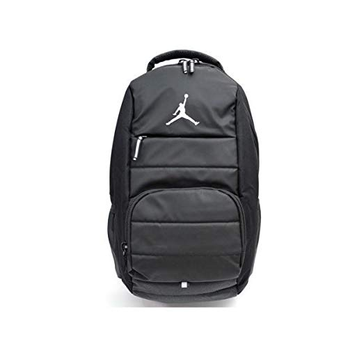 Nike ナイキ バックパック リュック エアージョーダン ジャンプマン Air Jordan Jumpman All World Laptop Backpack Black Gray 黒 9A1640 023 グレー 白 [並行輸入品] One Size  B07QHGYYWG