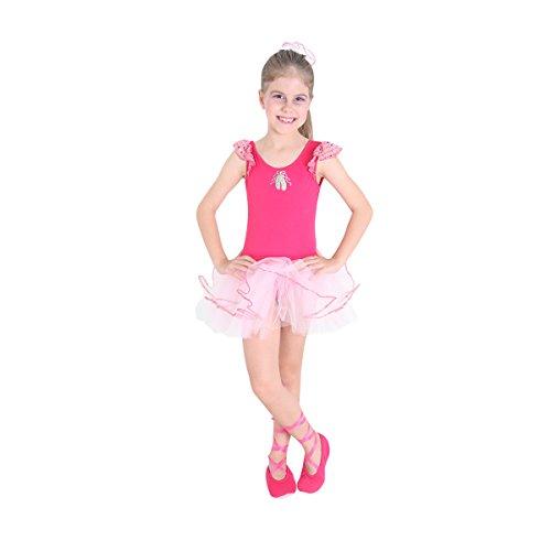 Bailarina Pink Infantil Sulamericana Fantasias Rosa G 10/12 Anos