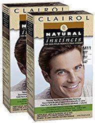 - Clairol Natural Instincts for Men Hair Color, Medium Brown (M11), 2 pk