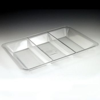 (Clear Plastic Sectional Tray 9.5