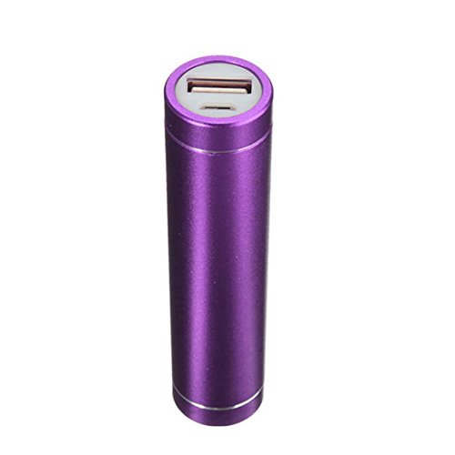 Mchoice USB Power Bank Case Kit 18650 Battery Charger DIY Box (Purple)