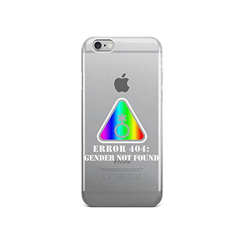 iPhone 6/6s Pure Anti-Shock Clear Case Error 404 Gender Not Found Agender Pride Non Binary -