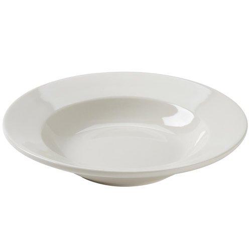 American White Rolled Edge Pasta Bowl, REC, Round