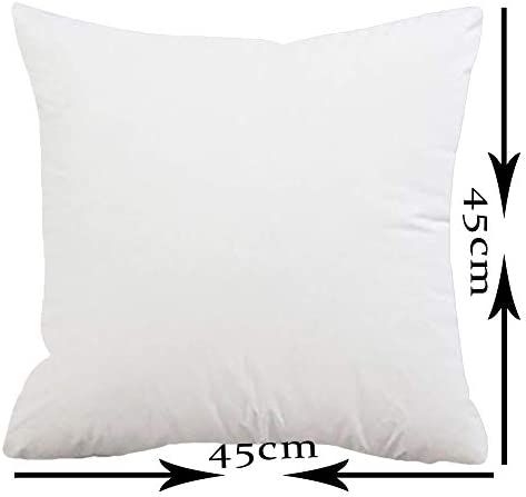 ITFRO Decorative Throw Pillow Insert Filler Stuffing Stuffer for Sofa Chair Bedroom Square 18×18 Inches