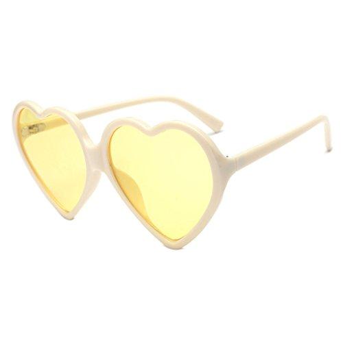 Kimruida de Mujer UV400 Forma Sol Corazón de para de Marca 6 Gafas 1 Diseño con rwX7qBr8