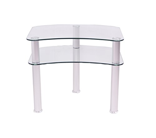 - RTA Home and Office TV-001 Glass and Aluminum Plasma/LCD Tv Stand for A 24