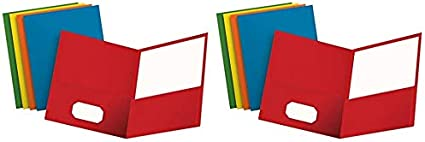 57513 Oxford Two-Pocket Folders 25 per Box Assorted Colors Pack of 2 Letter Size