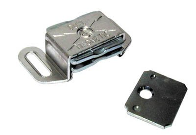 Amerock Single Magnetic Catch For Cabinet Door Bright Aluminum - Amerock Magnetic Touch Latch