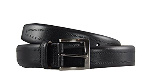 Kirkland Signature Men's- Italian Leather - Full-Grain Leather Belt, Black,...
