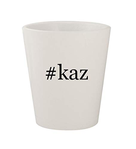 #kaz - Ceramic White Hashtag 1.5oz Shot Glass