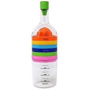 COM-FOUR® Cook Bottle 2.0, pratico aiuto da cucina 8 in 1, attrezzo da cucina multifunzione in forma di bottiglia 8