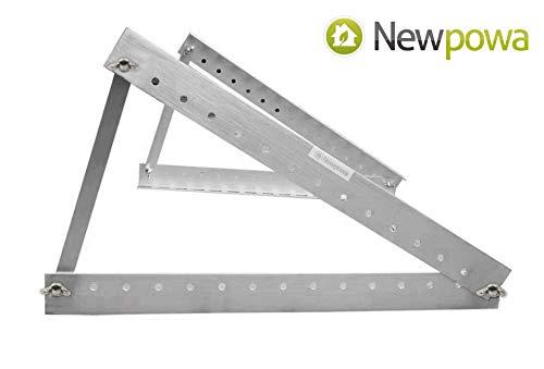 Newpowa Universal Solar Panel Mounting Bracket Tilt Mounts Flat Surface,RV - Panels Tilt Solar