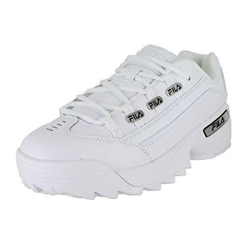 (Fila Mens Hometown White Black White Size 11.5)