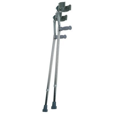 Lumex 6341A Deluxe Forearm Crutches, Large, 1 Pair (Pack of 2)