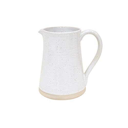 Casafina Fattoria Collection Stoneware Ceramic Pitcher 69 oz, White