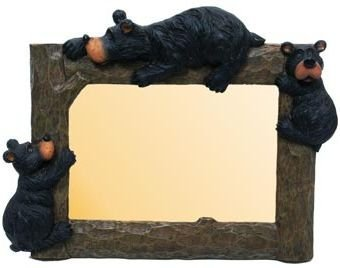 - Willie Black Bear with Cubs Photo Picture Frame, 4x6, Horizontal, 9-inch