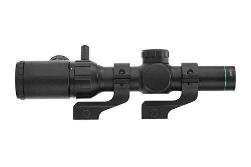 Monstrum Tactical 1-4x20 Rifle Scope with Rangefinder Reticle and Offset