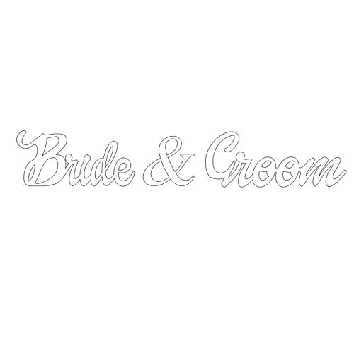 Bride and Groom Wedding Signs for Sweetheart Table Decor - PVC Signs, Sign Letters Freestanding Bridal Table (6 inches) -