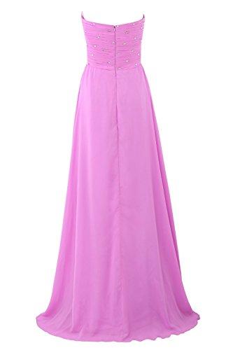YiYaDawn - Vestido - corte imperio - para mujer Púrpura
