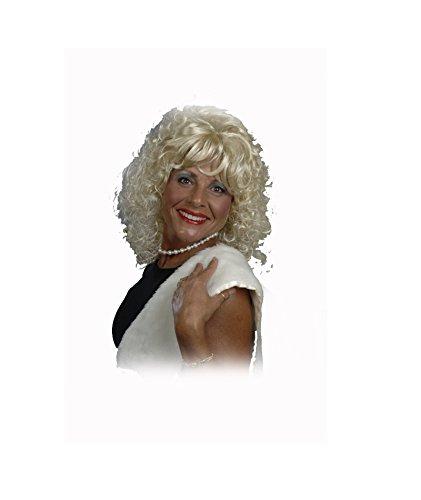 [001/38 (Blonde) Dolly Wig] (Dolly Parton Wig)