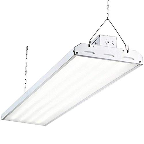 Hykolity 4FT Linear LED High Bay Light, LED Shop Light Fixture 325W 42250lm 0-10V dimmable 5000K DLC Premium [1000W Fluorescent Equiv.] Motion Sensor Optional, Indoor Commercial Warehouse Area Light - Bay Lighting Fixture