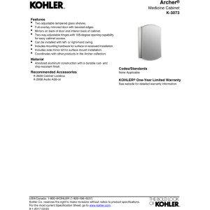 KOHLER K-3073-NA Archer Mirrored Cabinet by Kohler (Image #2)