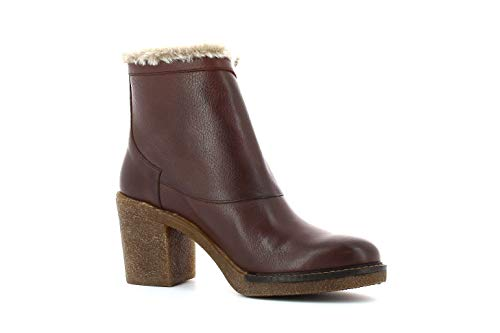 Talon Et À Femme Eté Bordure Printemps Collection Large Poils Carmela De Bottines Marron Bn1W56