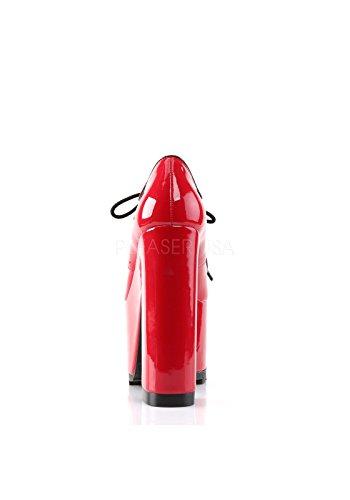 ring Bootie Dettaglio D Rossa Demonia Con Anteriore Ritagliati Cravatta Piattaforma 01 Crampi gq7w0H