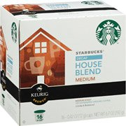 Starbucks Council Blend Decaffeinated Medium Ground Coffee K-Cups, 16 count(Pack of 2)