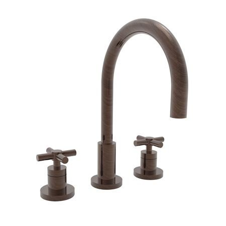 [Newport Brass 990 East Linear Double Handle Widespread Lavatory Faucet with Meta, Venetian Bronze] (Bronze 990 Double Handle)