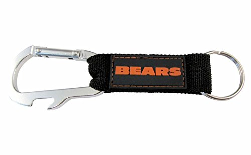 Pro Specialties Group NFL Chicago Bears Carabineer Keychain, Navy, One Size