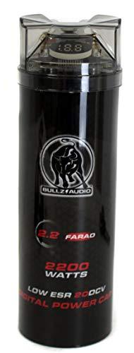 Buy bullz audio 2200w digital farad capacitor bcap2.2