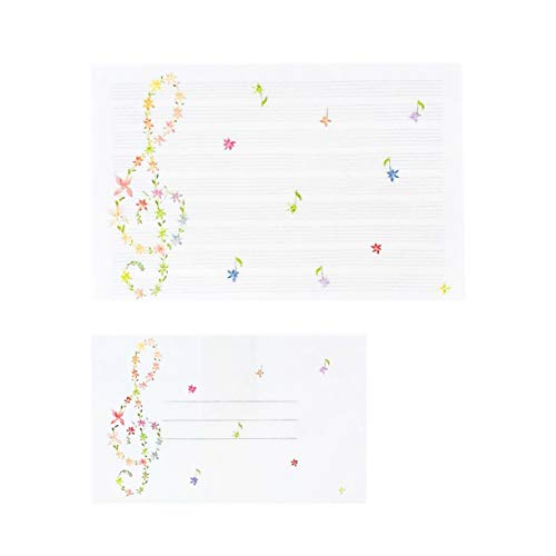 (Frontia Japanese Letter Set 20 pcs Letter Writing Stationery Paper and 10 pcs Envelopes 5.1