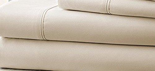 Hotel Comfort Count Deep Pocket 4 Piece Bed Sheet Set Ivory (Best Halloween Costume Ballots)