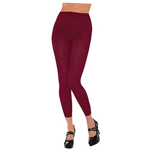 Burgundy Footless Tights, Party Accessory