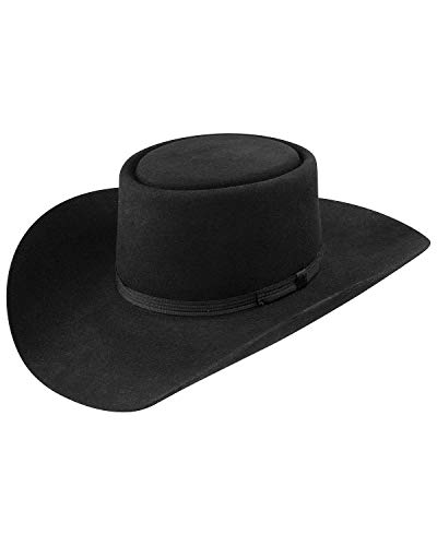 Stetson Men's Revenger Western Hat Black 6 - Gambler Hat Felt Brim Wide